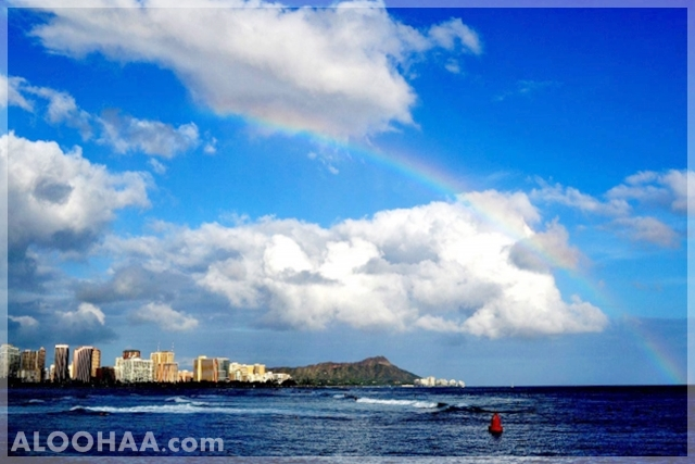 aloohaa hawaii waikiki rainbow